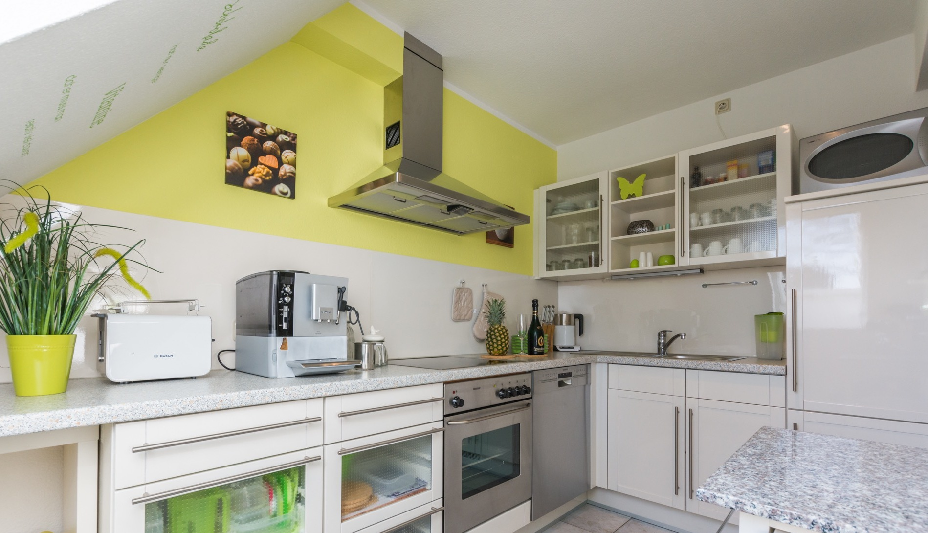 Küche mit Kaffeevollautomat Casa Del Mar Zingst